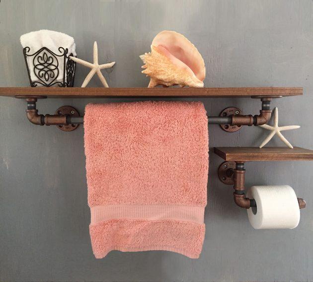 15 amazing handmade rustic towel rack