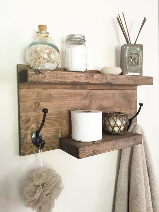 15 Amazing Handmade Rustic Towel Rack Designs For Your