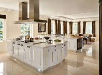15 Delightful Kitchen Designs With Marble Flooring For