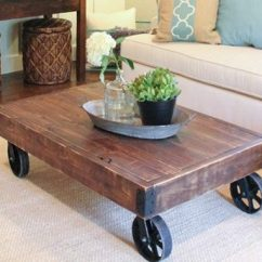 Living Room Side Table Furniture Walmart 16 Superb Handmade Coffee And Designs For Your Industrial Rolling Factory Cart