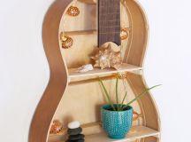 Repurpose Your Unused Guitar Into Brilliant Wall Shelf