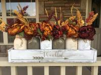 17 Shabby Chic Handmade Fall Mason Jar Decor Ideas For The