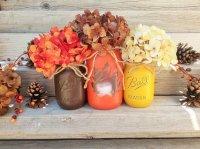 17 Shabby Chic Handmade Fall Mason Jar Decor Ideas For The