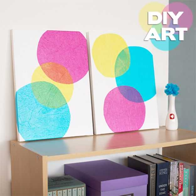 diy canvas art for living room corner couch small 15 super easy painting ideas artistic home decor bubbles