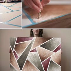 Diy Canvas Art For Living Room Sets The Brick 15 Super Easy Painting Ideas Artistic Home Decor
