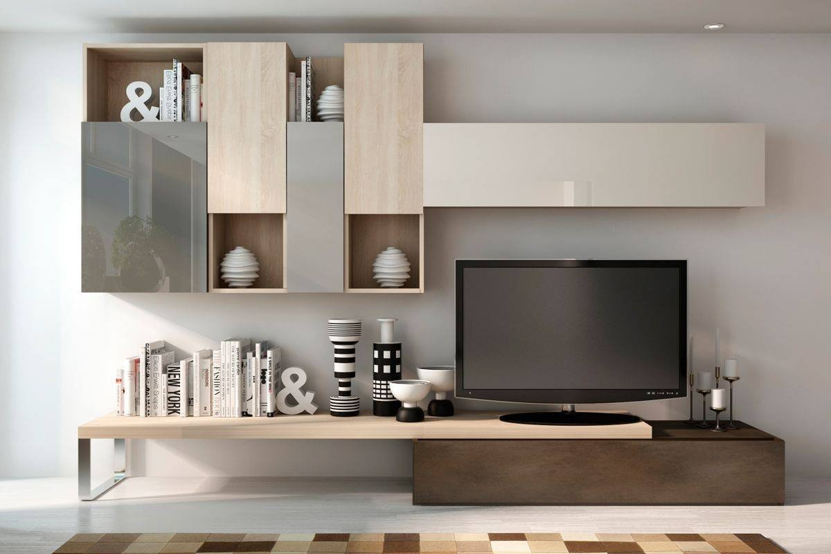 modern living room shelves false ceiling design for with two fans 17 outstanding ideas tv to more attractive
