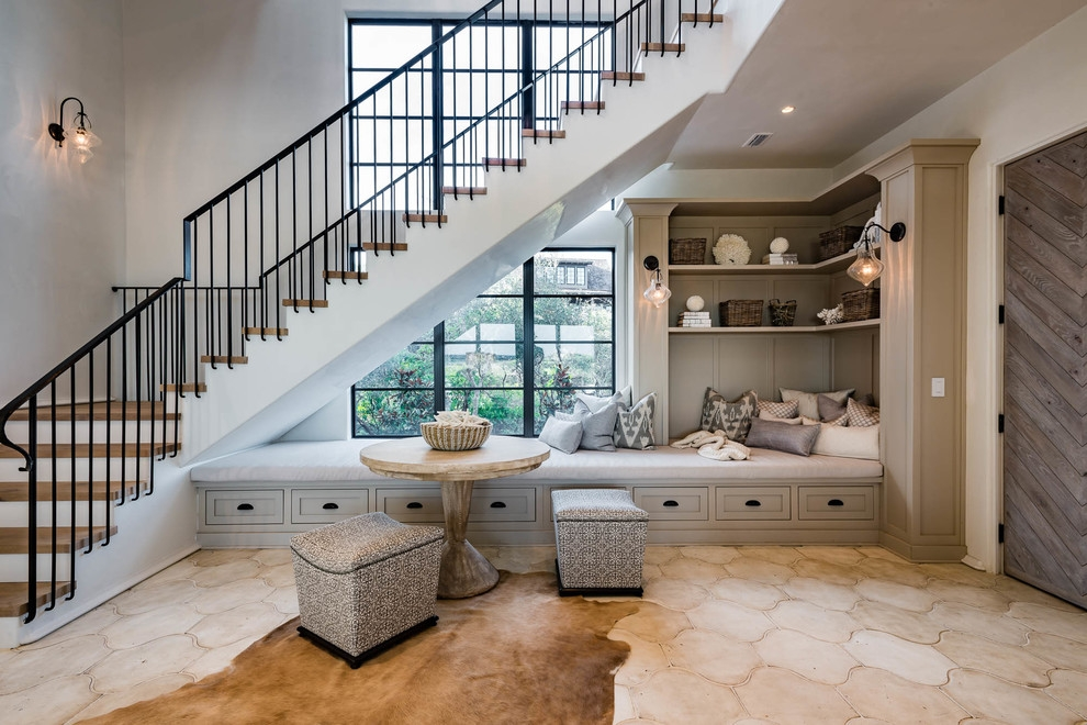 16 Tremendous Mediterranean Staircase Designs That Will Make Your | Living Room Stairs Design | Home | Classic House | Catalogue | White | Semi Circle House