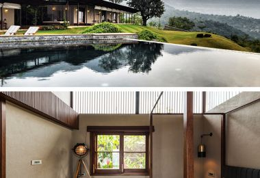 The House with the Gabion by Spasm Design in Lonavala, India