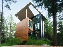 House of a Sculptor by YH2 Architecture in East Bolton, Canada