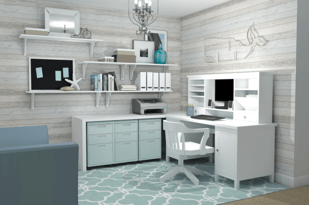 17 Timeless Ideas To Decorate Grey Home Office
