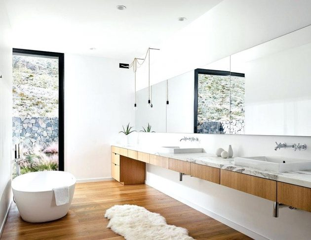 White & Wood  The Best Combination For Perfect Bathroom