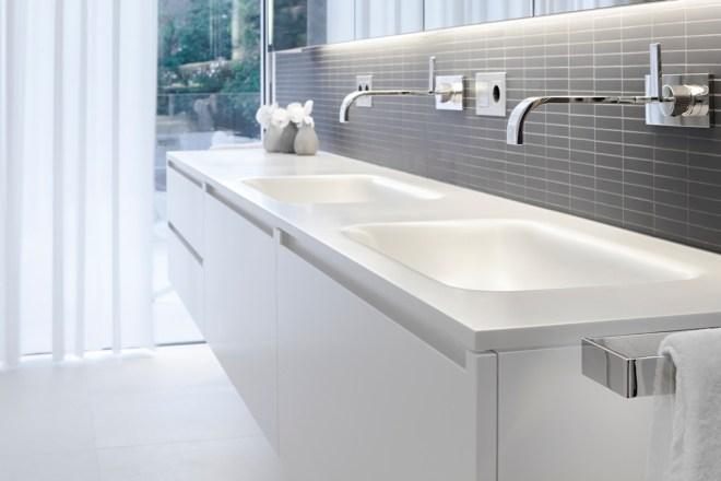 Modern white bathroom furniture
