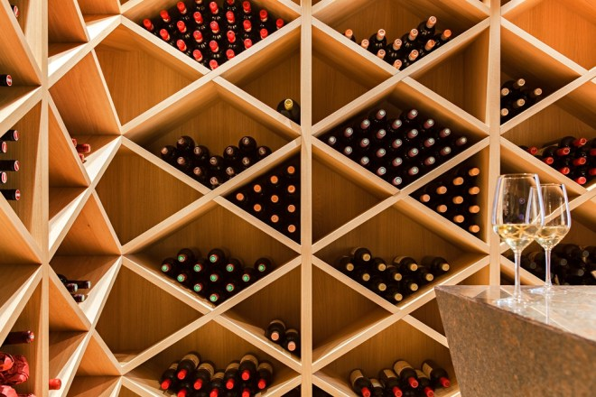Wine cellar detail in House M