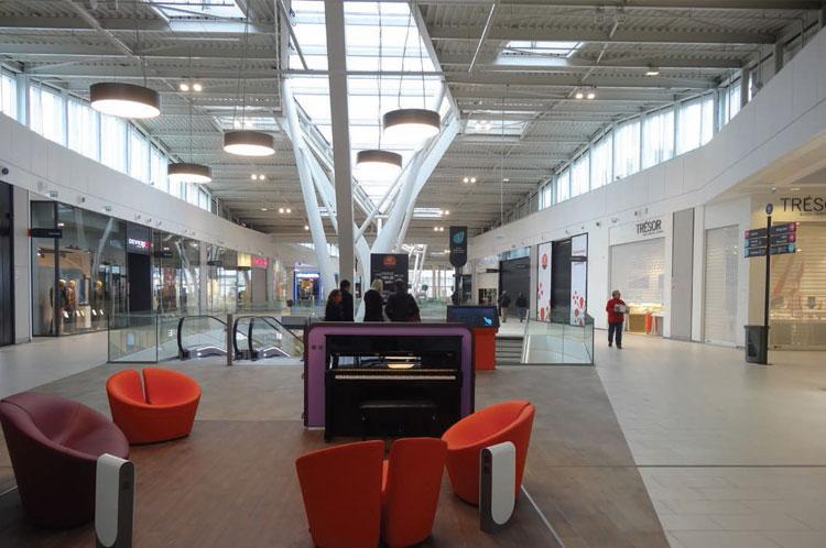 aménagement intérieur du nouveau centre commercial