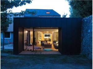 terrase d'une maison bois classique à Vannes