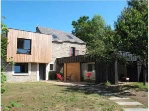 maison bois classique à Vannes