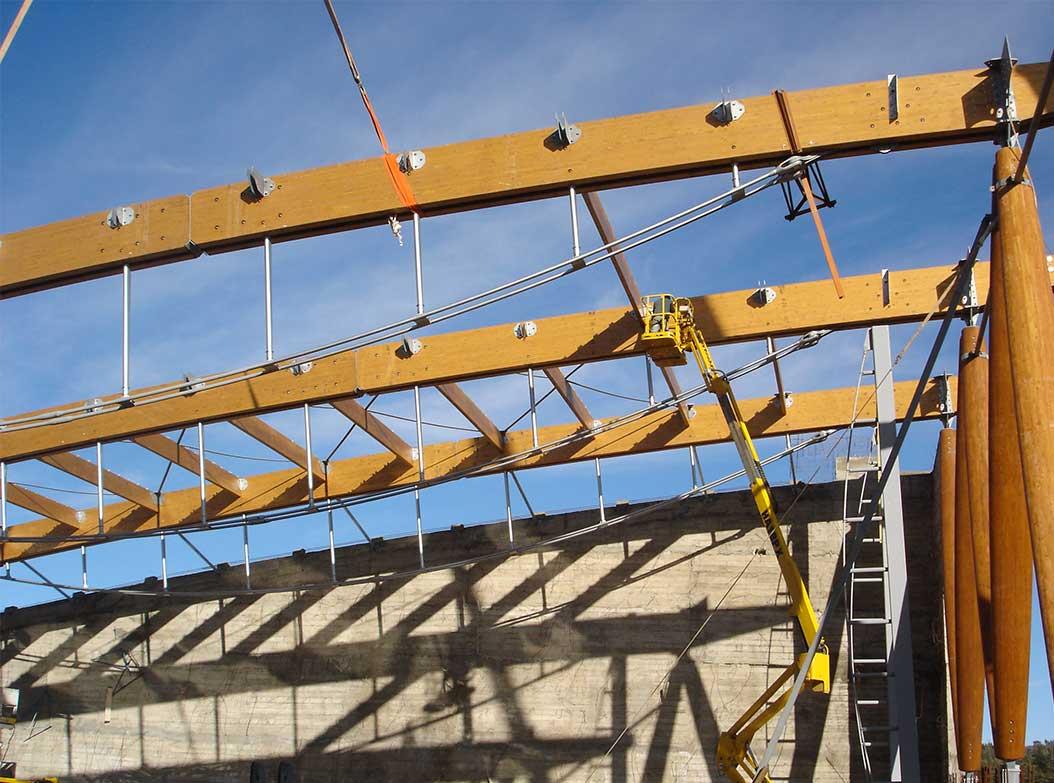 construction rapide d'une maison en bois lamellé-collé
