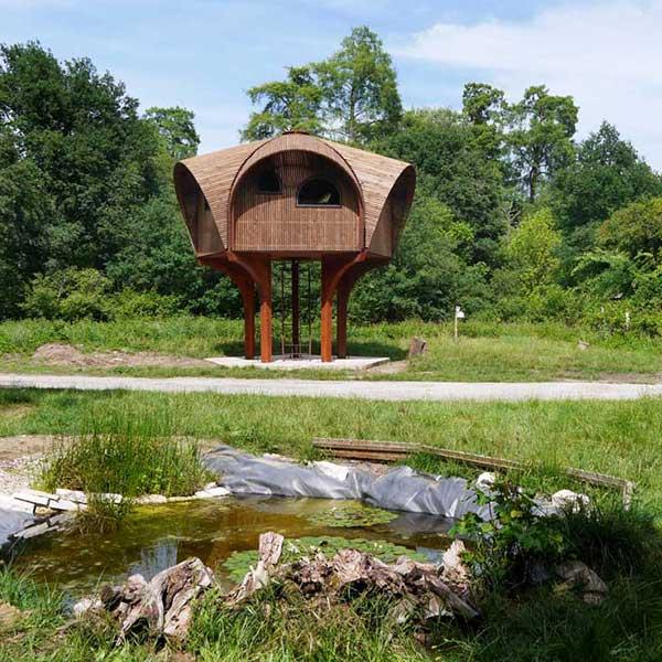 La cabane bois le Haut Perché fait partie des refuges périurbains bordelais © Bordeaux Métropole