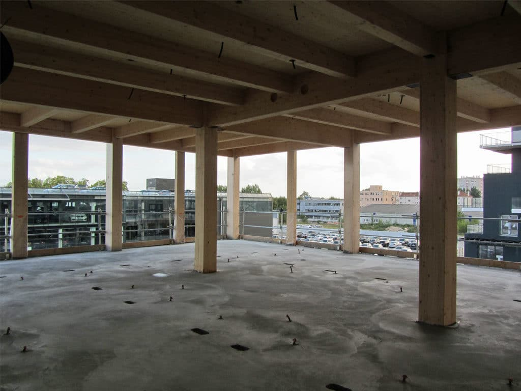 l'immeuble bois Perspective sort de terre à Bordeaux