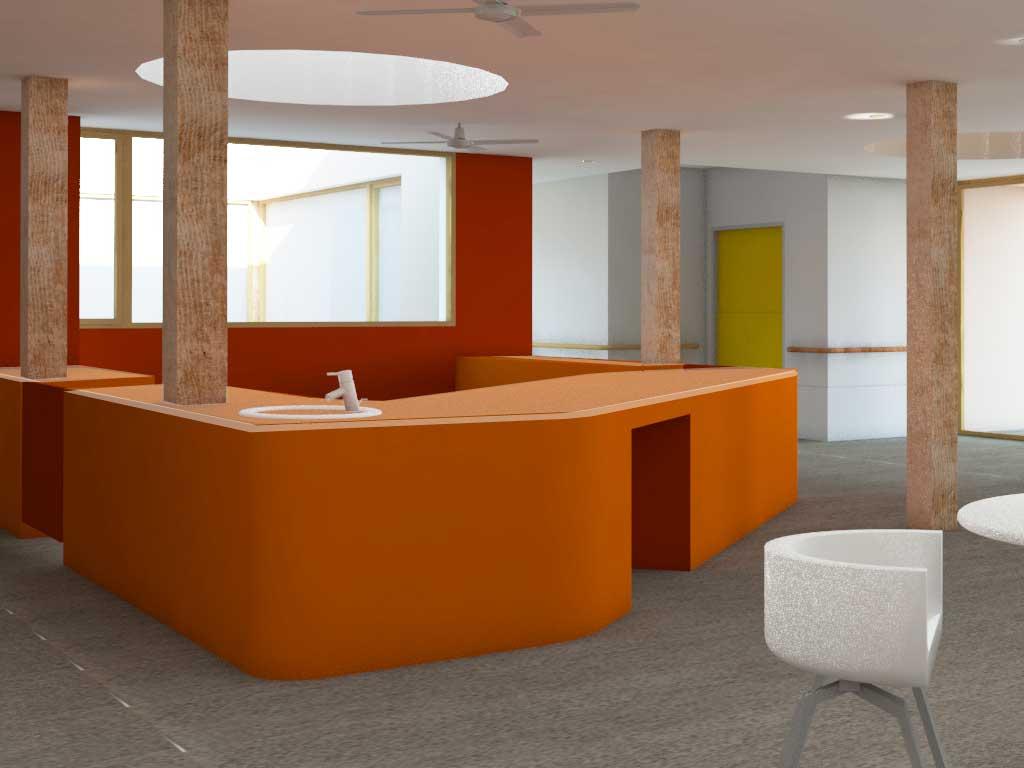 modèle 3D du futur salon d' EHPD