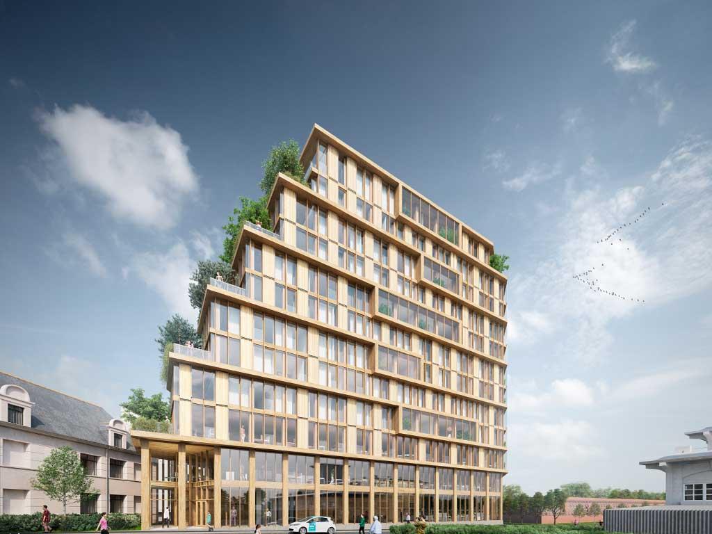 maison bois futur 3D
