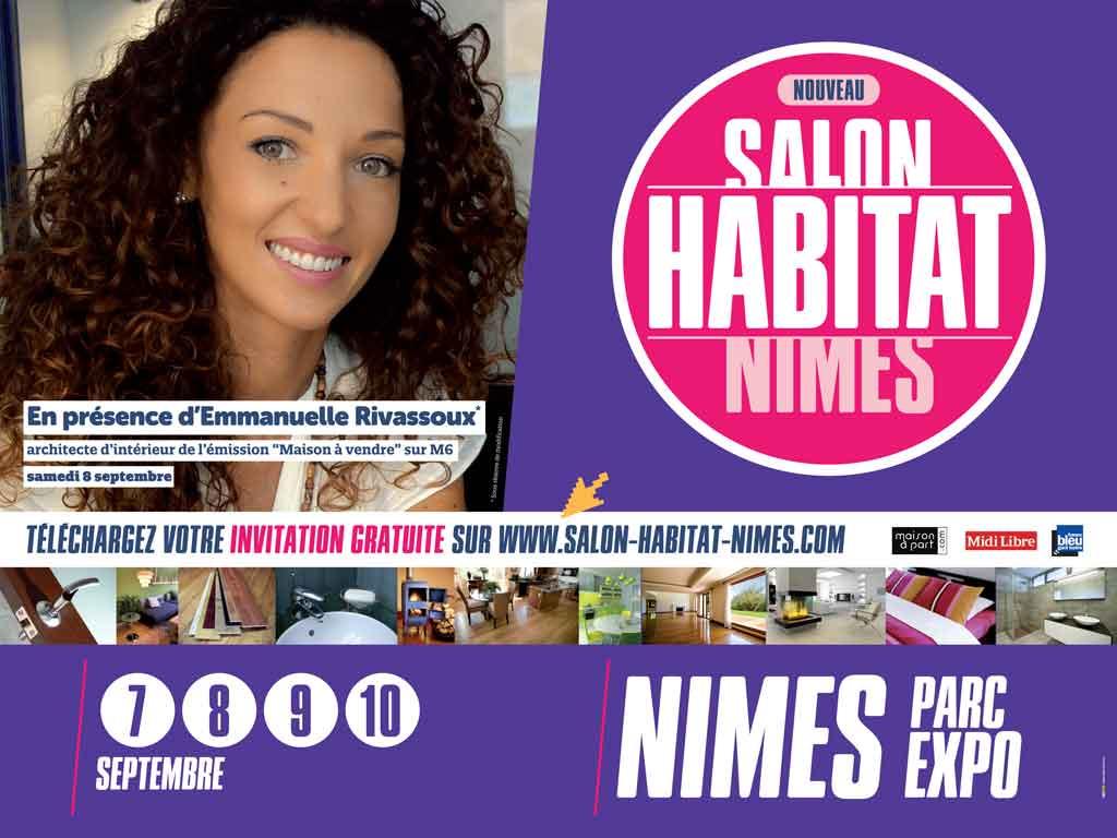 L'affiche officielle du 1er salon de l'Habitat de Nîmes