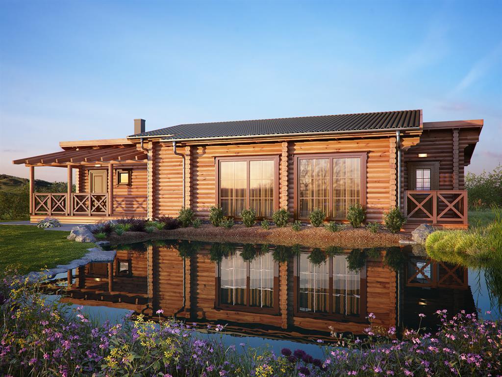 maison bois familial moderne