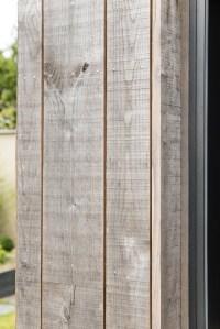 bardage bois gris d'une maison bois