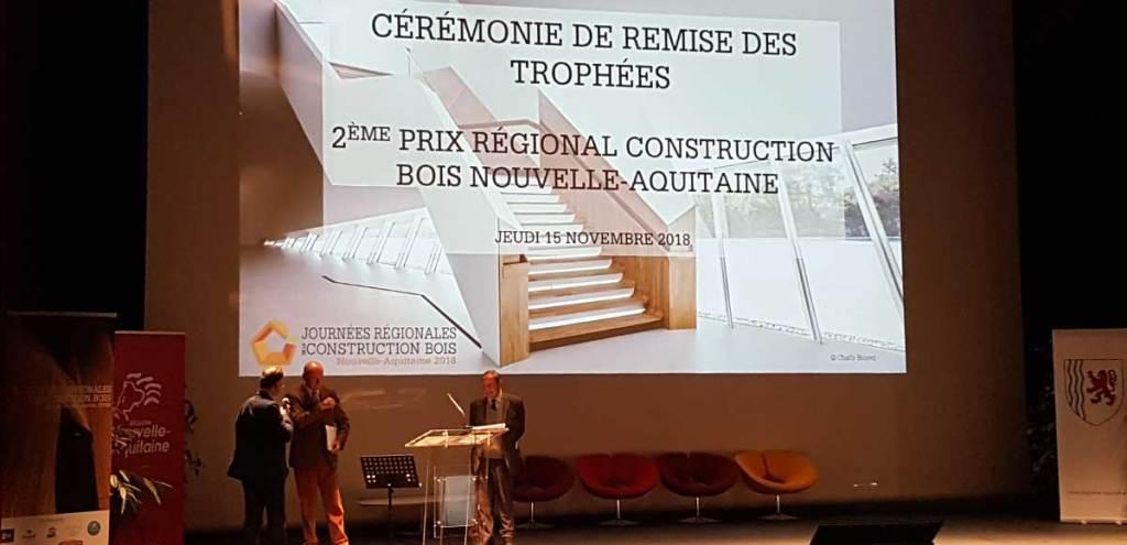 © Claire ThibCérémonie de remise des trophées de la construction bois Nouvelle-Aquitaine avec Alain Rousset © Claire Thibaultault