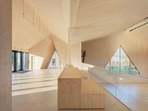 gymnase en bois conçu par© Matthieu Gafsou