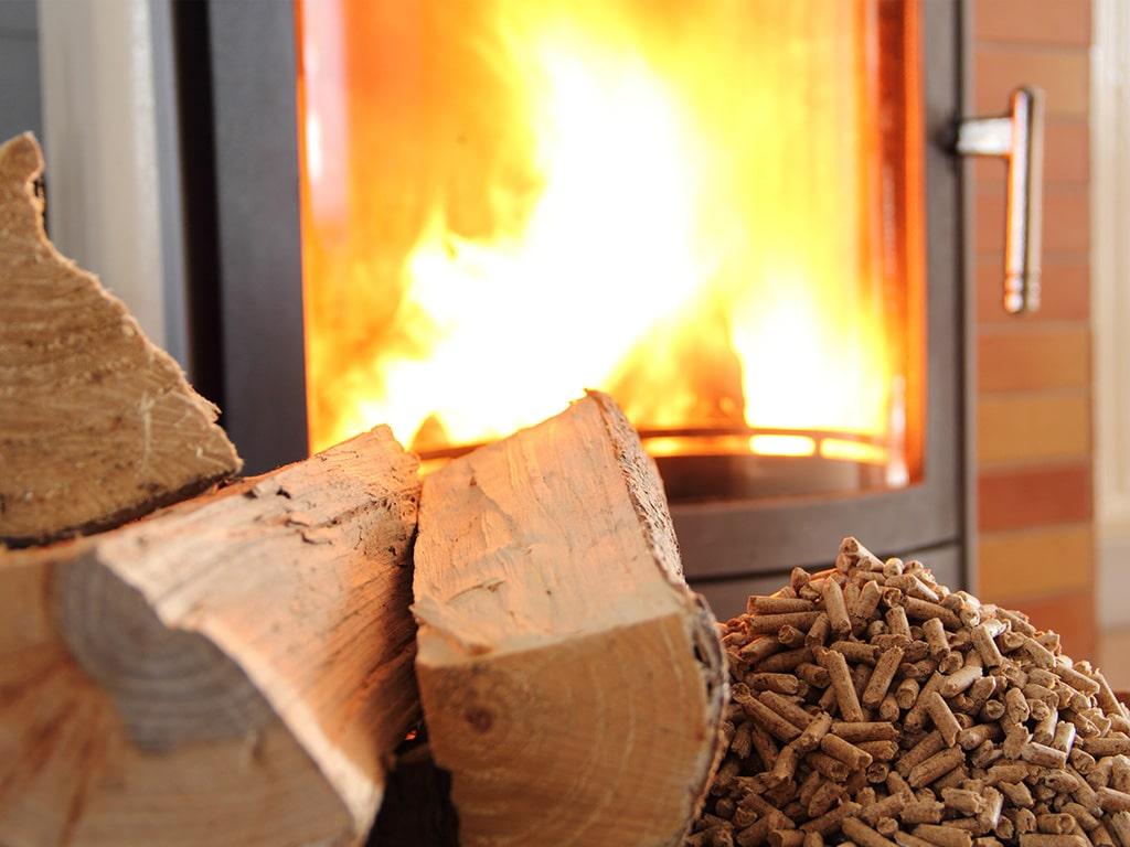 Chauffage poêle à bois