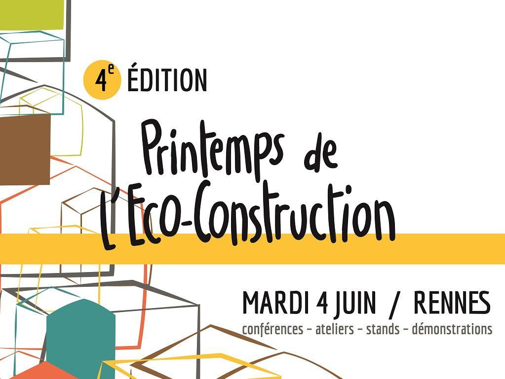 Visuel du salon du printemps de l'éco-construction de Rennes