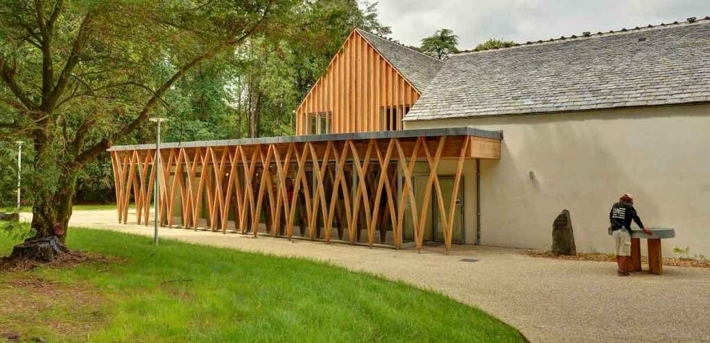 extension en bois d'une maison pierre participant de PNCB