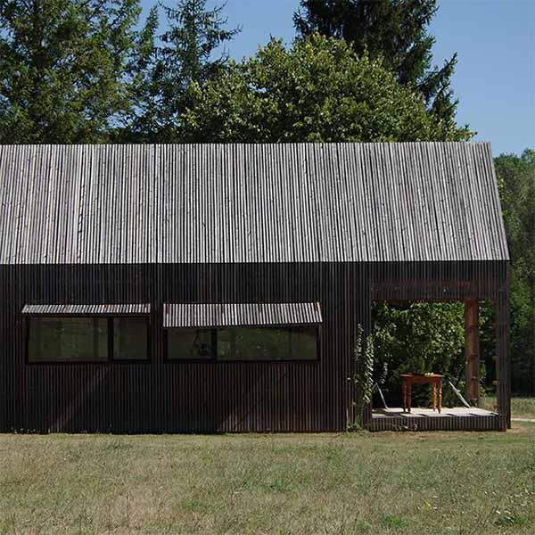 maison en pierre et son extension bois