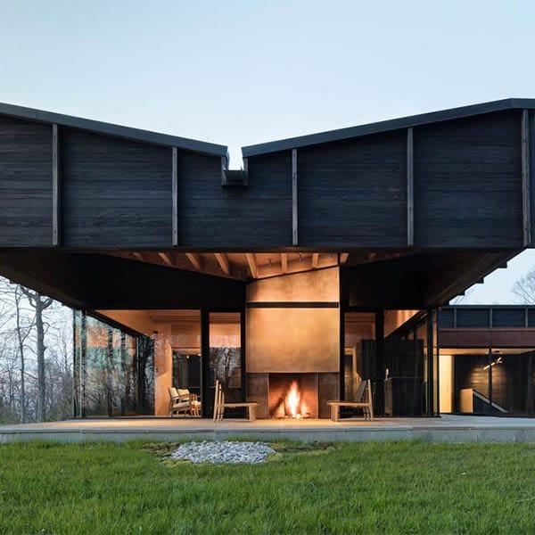 Maison en bois moderne lac Michigan - Desai Chia Architects