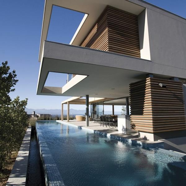 maison bois avec piscine et vue magnifique