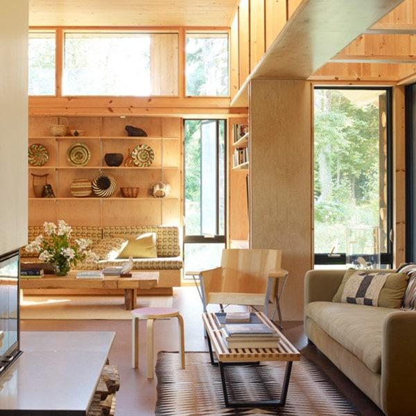 maison bois neuve au Canada