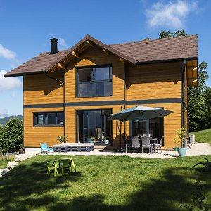 Maison bois contemporaine à Novalaise