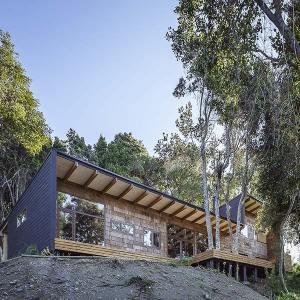 maison de vacances en bois au Chili