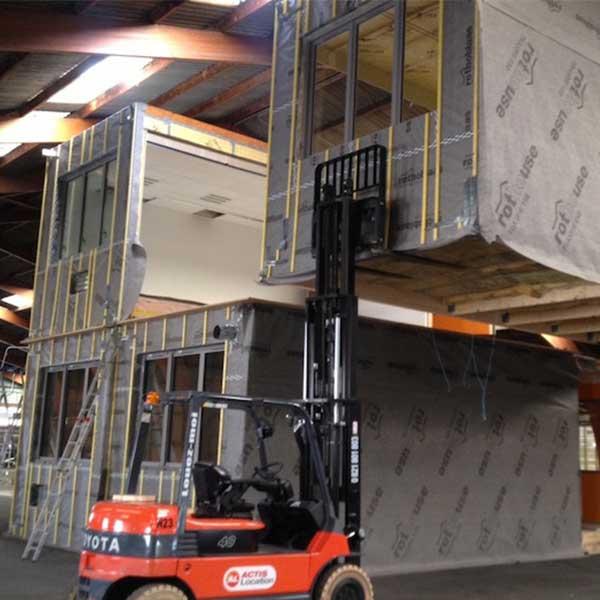 Exemples de modules bois développés par Leco © Leco