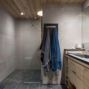 salle de bains moderne dans un chalet en bois
