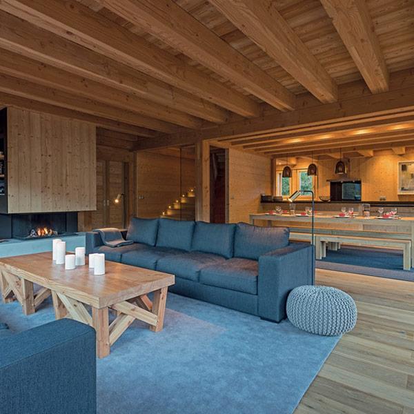 séjour bois confortable chalet bois baptisé Sirius dans les Hautes-Alpes
