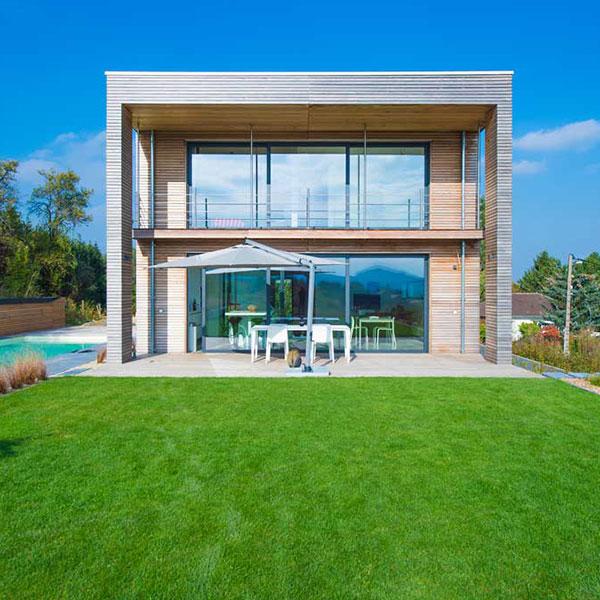 maison bois géométrique