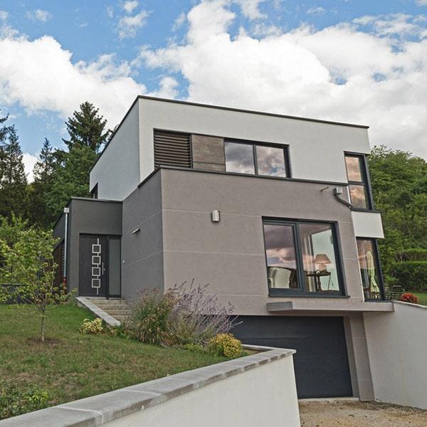 maison moderne à ossature bois en Grand Est