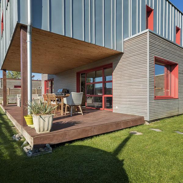 maison bois modulaire et perchée