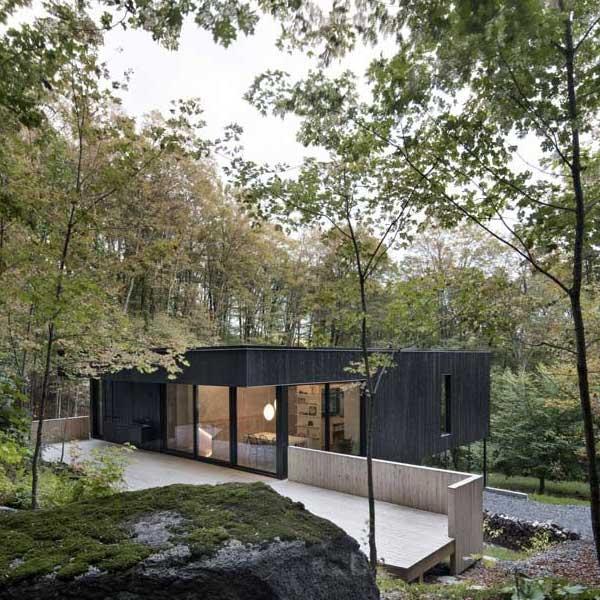 Maison bois à flanc de colline - Atelier général