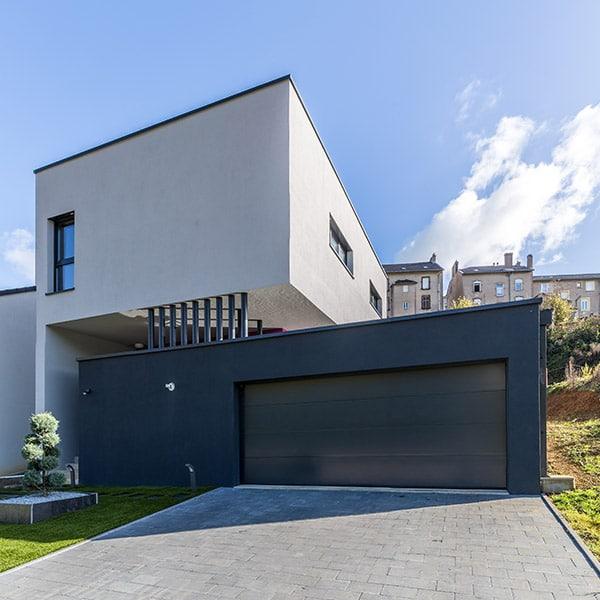 maison bois d'architecte en couleurs en Moselle