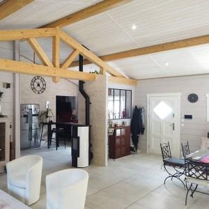 Maison en madriers bois massif - Alaya Maisons Bois