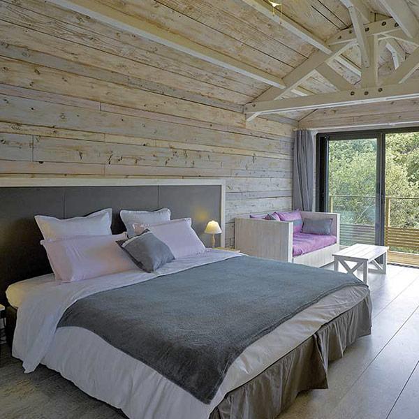 chambre des parents en bois