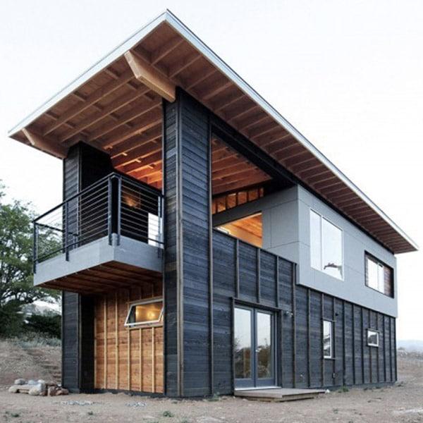 Maison bois luxueuse et moderne dans l'ouest des etats-unis